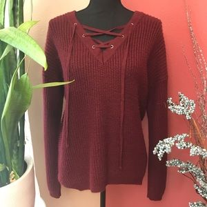 🌷BOGO🌷 Tilly's - Love By Design - Wine Sweater